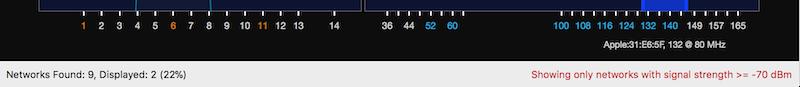 WiFi Explorer Filter Status